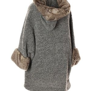Zara knit poncho / cardigan sweater